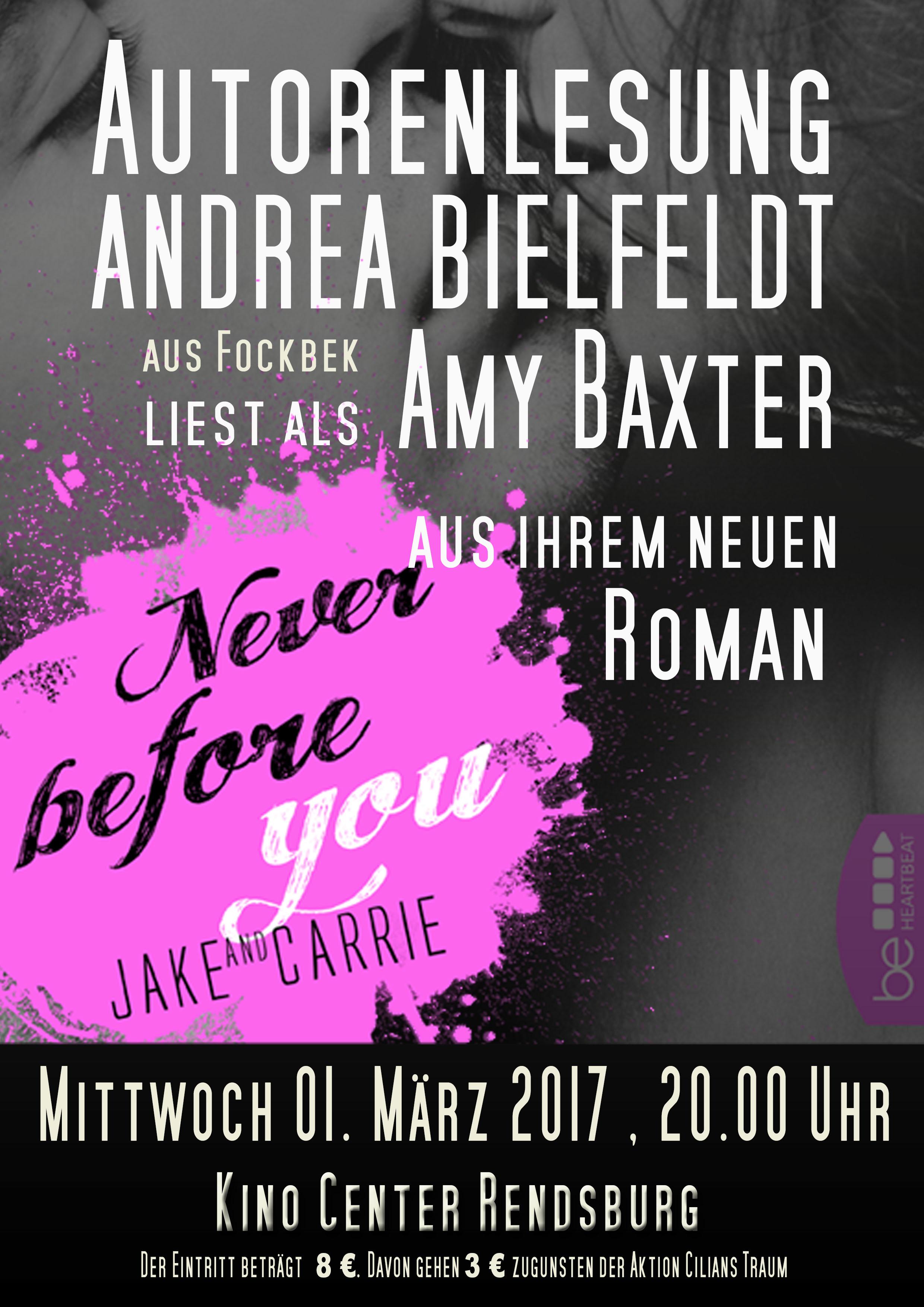 Lesung Kino Center Rendsburg Amy Baxter San Francisco Ink Cover Lübbe Verlag
